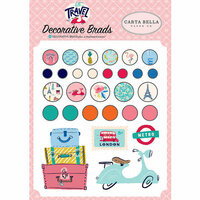 Carta Bella Paper - Let's Travel Collection - Decorative Brads