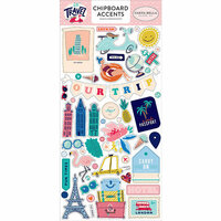 Carta Bella Paper - Let's Travel Collection - Chipboard Stickers - Accents