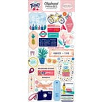Carta Bella Paper - Let's Travel Collection - Chipboard Stickers - Phrases