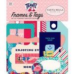 Carta Bella Paper - Let's Travel Collection - Ephemera - Frames and Tags