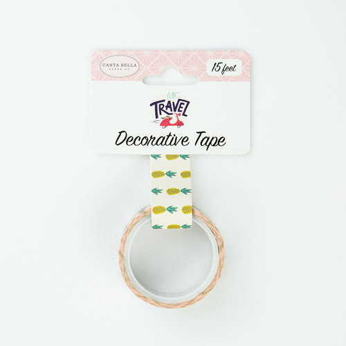 Carta Bella Paper - Let's Travel Collection - Decorative Tape - Pineapples
