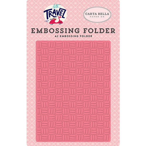 Carta Bella Paper - Let's Travel Collection - Embossing Folder - Fun Times