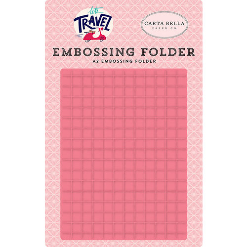 Carta Bella Paper - Let's Travel Collection - Embossing Folder - Grid