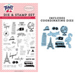 Carta Bella Paper - Let's Travel Collection - Designer Die and Clear Photopolymer Stamp Set - Let's Go