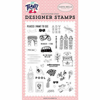 Carta Bella Paper - Let's Travel Collection - Clear Photopolymer Stamps - Adventure Begins Here