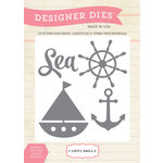 Carta Bella Paper - Ahoy There Collection - Designer Dies - Sea, Ship, Anchor