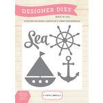 Carta Bella Paper - Ahoy There Collection - Designer Dies - Sea, Ship, Anchor