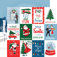 Carta Bella Paper - Merry Christmas Collection - 12 x 12 Double Sided Paper - 3 x 4 Journaling Cards