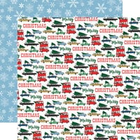 Carta Bella Paper - Merry Christmas Collection - 12 x 12 Double Sided Paper - Tree Shopping