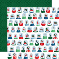 Carta Bella Paper - Merry Christmas Collection - 12 x 12 Double Sided Paper - Snow Globes