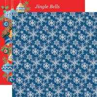 Carta Bella Paper - Merry Christmas Collection - 12 x 12 Double Sided Paper - Snowflakes
