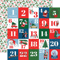 Carta Bella Paper - Merry Christmas Collection - 12 x 12 Double Sided Paper - Countdown To Christmas