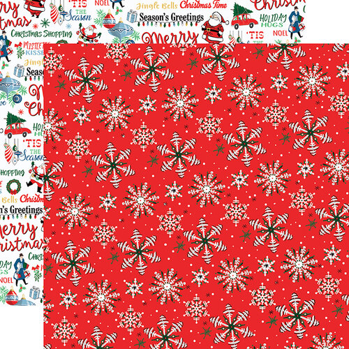 Carta Bella Paper - Merry Christmas Collection - 12 x 12 Double Sided Paper - Christmas Snow