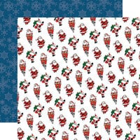 Carta Bella Paper - Merry Christmas Collection - 12 x 12 Double Sided Paper - Jolly Santa Claus