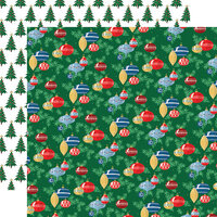 Carta Bella Paper - Merry Christmas Collection - 12 x 12 Double Sided Paper - Ornaments