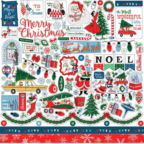 Carta Bella Paper - Merry Christmas Collection - Cardstock Stickers - Elements