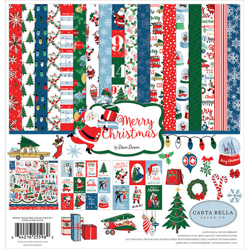 Carta Bella Paper - Merry Christmas Collection - 12 x 12 Collection Kit