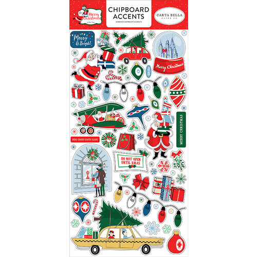 Carta Bella Paper - Merry Christmas Collection - Chipboard Stickers - Accents