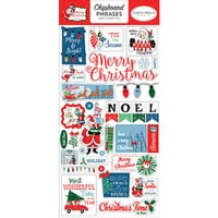 Carta Bella Paper - Merry Christmas Collection - Chipboard Stickers - Phrases