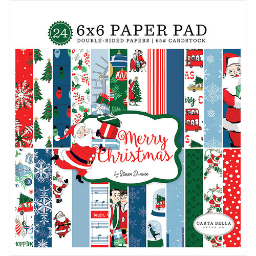 Carta Bella Paper - Merry Christmas Collection - 6 x 6 Paper Pad