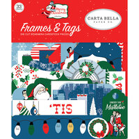 Carta Bella Paper - Merry Christmas Collection - Ephemera - Frames and Tags