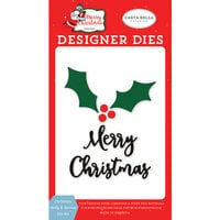 Carta Bella Paper - Merry Christmas Collection - Designer Dies - Christmas Holly and Berries