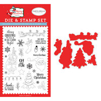 Carta Bella Paper - Merry Christmas Collection - Designer Die and Clear Photopolymer Stamp Set - Oh What Fun