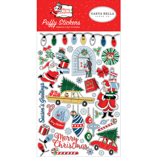 Carta Bella Paper - Merry Christmas Collection - Puffy Stickers
