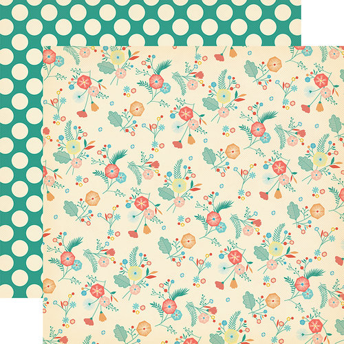 Carta Bella Paper - Metropolitan Girl Collection - 12 x 12 Double Sided Paper - City Flowers