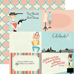 Carta Bella Paper - Metropolitan Girl Collection - 12 x 12 Double Sided Paper - 4 x 6 Journaling Cards