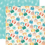 Carta Bella Paper - Metropolitan Girl Collection - 12 x 12 Double Sided Paper - Let's Shop