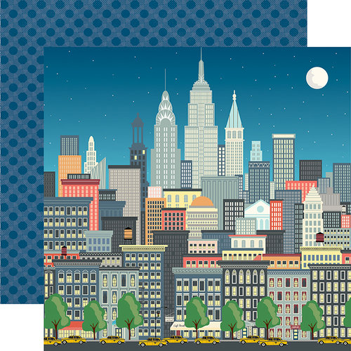 Carta Bella Paper - Metropolitan Girl Collection - 12 x 12 Double Sided Paper - Big City Shopping
