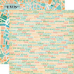 Carta Bella Paper - Metropolitan Girl Collection - 12 x 12 Double Sided Paper - Shopping Cities