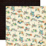 Carta Bella Paper - Metropolitan Girl Collection - 12 x 12 Double Sided Paper - Girls and Cities