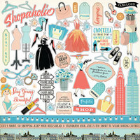Carta Bella Paper - Metropolitan Girl Collection - 12 x 12 Cardstock Stickers - Elements
