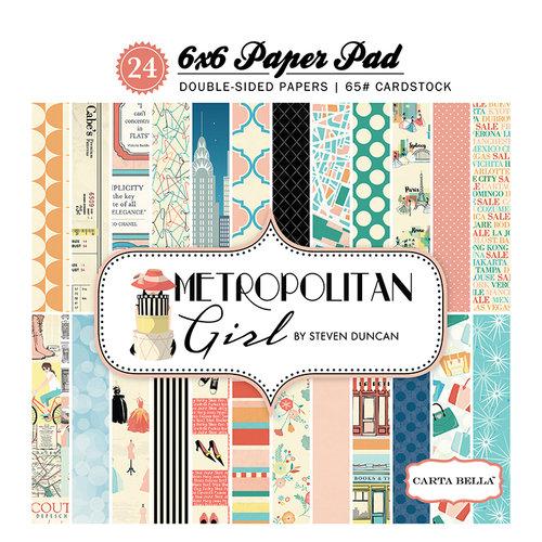 Carta Bella Paper - Metropolitan Girl Collection - 6 x 6 Paper Pad