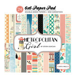 Carta Bella Paper - Metropolitan Girl Collection - 6 x 6 Paper Pad