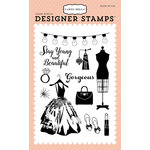 Carta Bella Paper - Metropolitan Girl Collection - Clear Acrylic Stamps - Gorgeous Girl