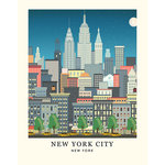 Carta Bella Paper - Metropolitan Girl Collection - Art Print - 11 x 14 - New York Skyline