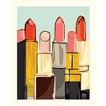 Carta Bella Paper - Metropolitan Girl Collection - Art Print - 8 x 10 - Lipstick