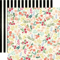 Carta Bella Paper - Flower Market Collection - 12 x 12 Double Sided Paper - Flower Market Floral