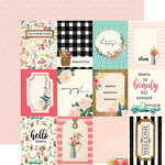Carta Bella Paper - Flower Market Collection - 12 x 12 Double Sided Paper - 3 x 4 Journaling Cards