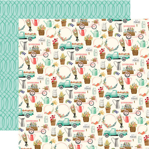 Carta Bella Paper - Flower Market Collection - 12 x 12 Double Sided Paper - Market Days