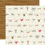Carta Bella Paper - Flower Market Collection - 12 x 12 Double Sided Paper - Embroidery Hoops