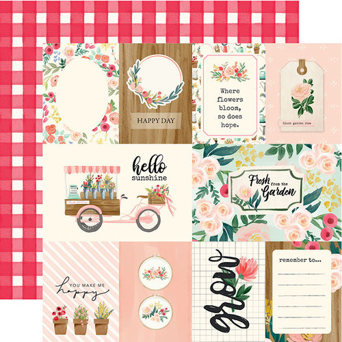 Carta Bella Paper - Flower Market Collection - 12 x 12 Double Sided Paper - Multi Journaling Cards