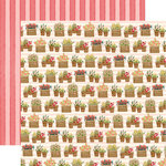 Carta Bella Paper - Flower Market Collection - 12 x 12 Double Sided Paper - Planted Flowers