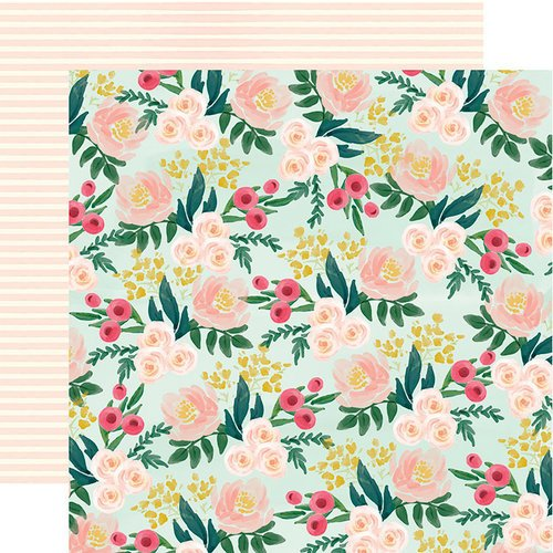 Carta Bella Paper - Flower Market Collection - 12 x 12 Double Sided Paper - Garden Floral