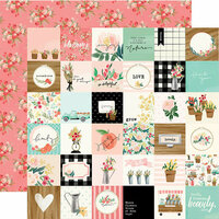 Carta Bella Paper - Flower Market Collection - 12 x 12 Double Sided Paper - 2 x 2 Squares