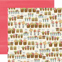 Carta Bella Paper - Flower Market Collection - 12 x 12 Double Sided Paper - Market Shop