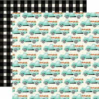 Carta Bella Paper - Flower Market Collection - 12 x 12 Double Sided Paper - Market Trucks